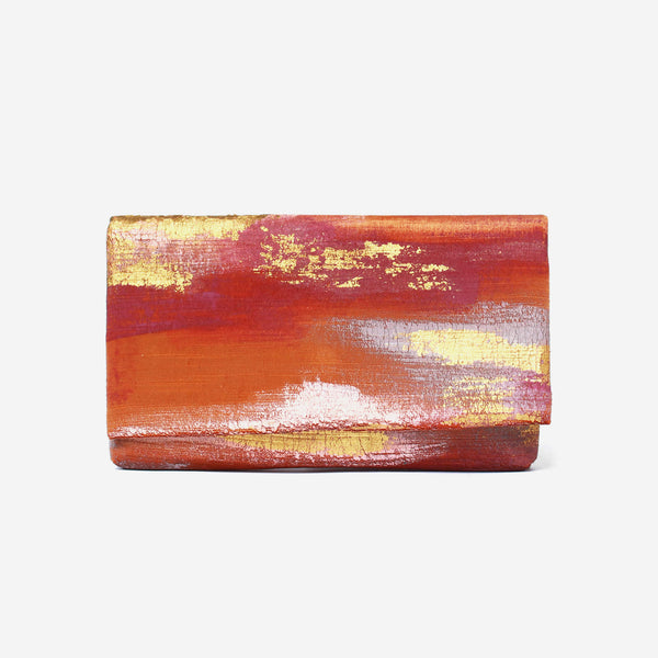 513 Paint Shop x Heritage Refashioned - Abstract Art Clutch - Ocher Gold