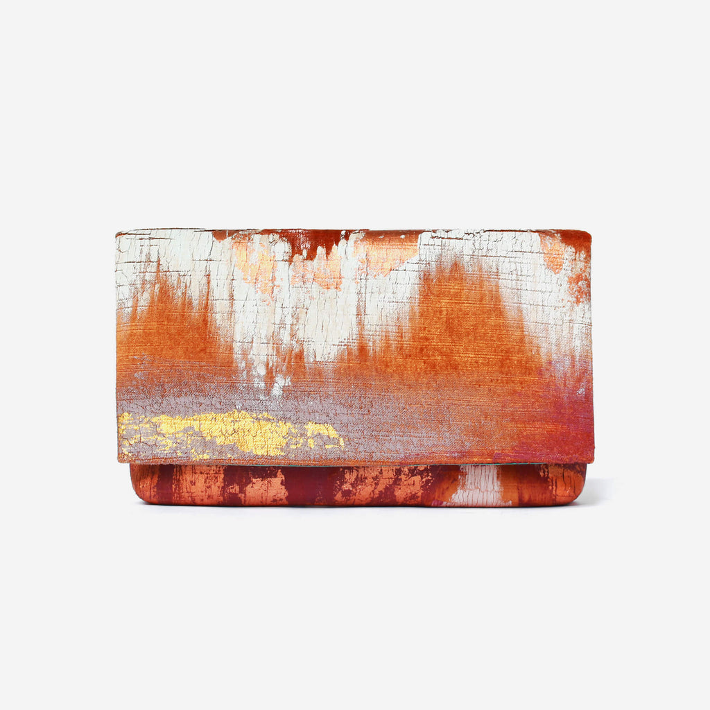 513 Paint Shop x Heritage Refashioned | Abstract Art Clutch - Ochre Copper