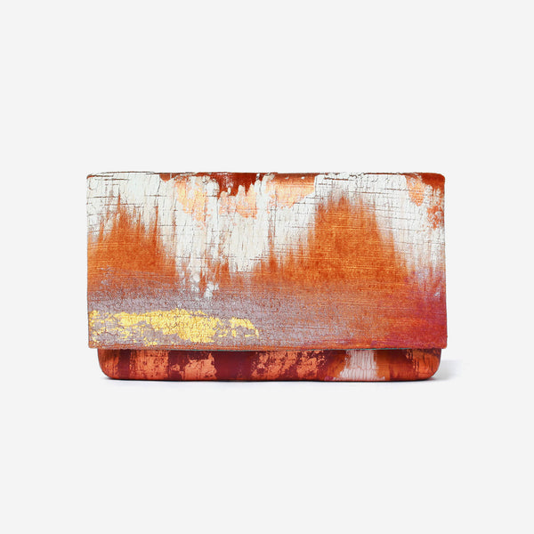 513 Paint Shop x Heritage Refashioned - Abstract Art Clutch - Orher Copper