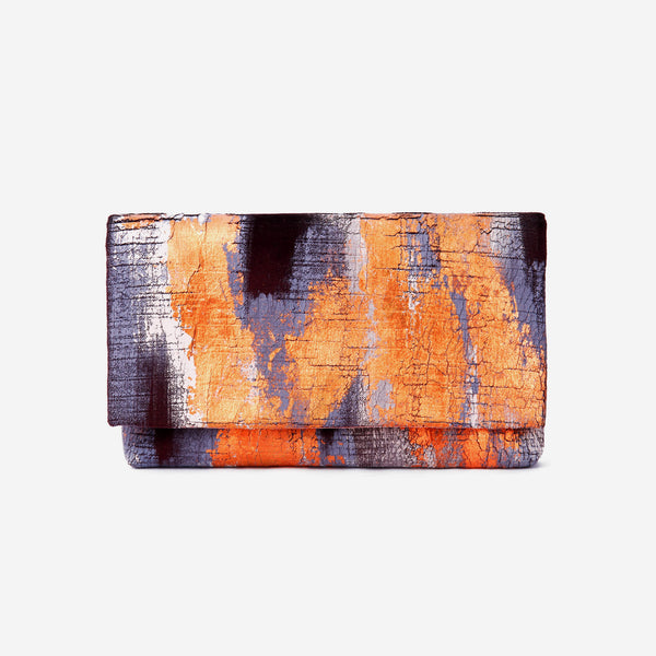 513 Paint Shop x Heritage Refashioned - Abstract Art Clutch - Purple Copper