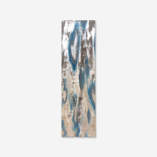 513 Artizen Range | Abstract Art Painting - Blue Silver