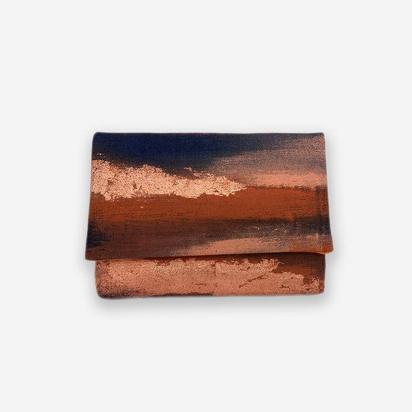 513 Artizen Range | Abstract Art Clutch - Denim Earth Copper