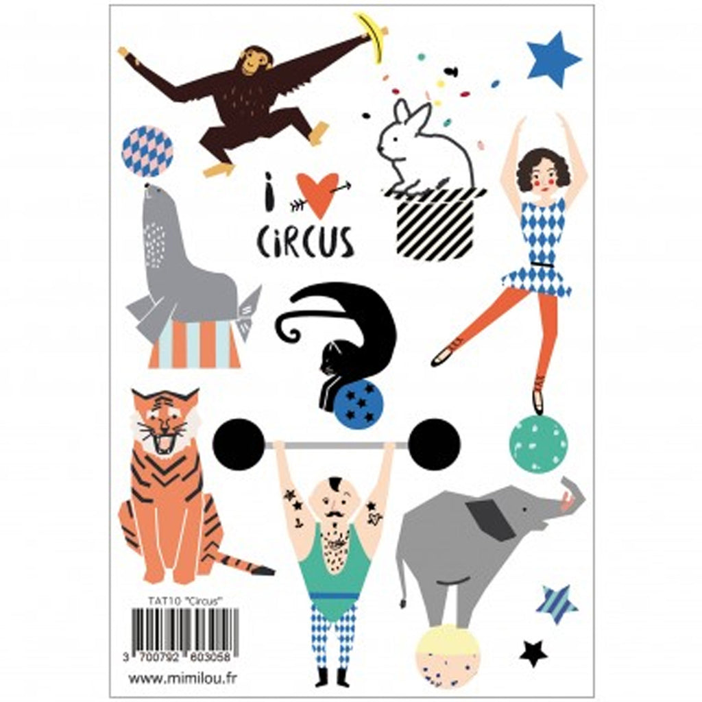 Mimi'lou | Circus Tattoos sticker