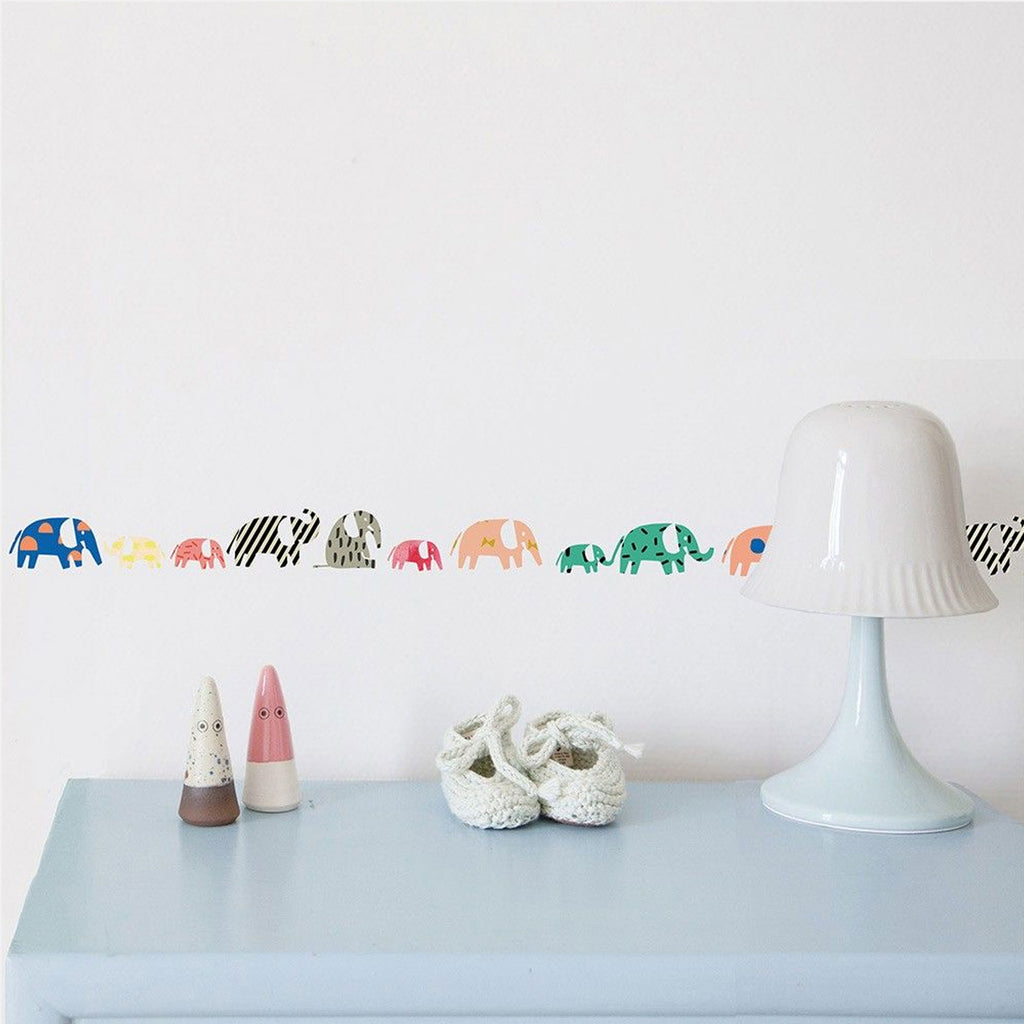 Mimi'lou | Elephants wall border