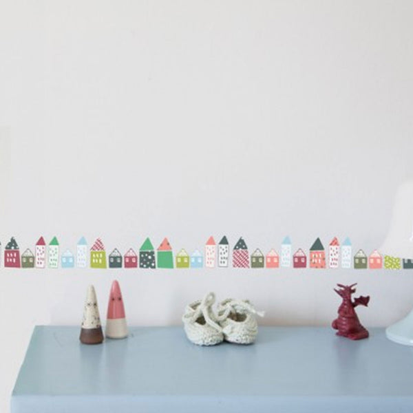 Mimi'lou | Houses wall border