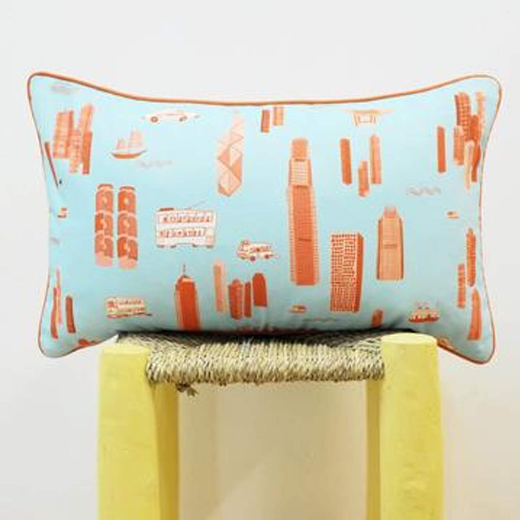 Works of Wonder | Cushion - Baby Blue & Orange