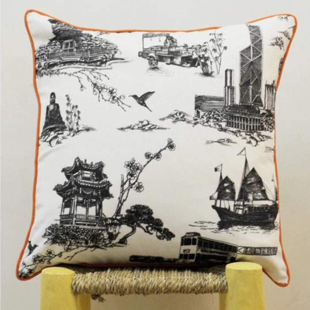 Works of Wonder | Cushion - Charcoal Black