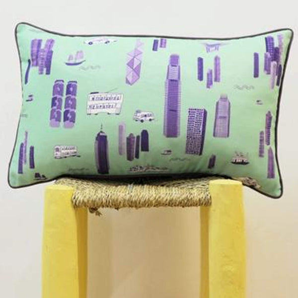 Works of Wonder | Cushion - Mint Green & Purple