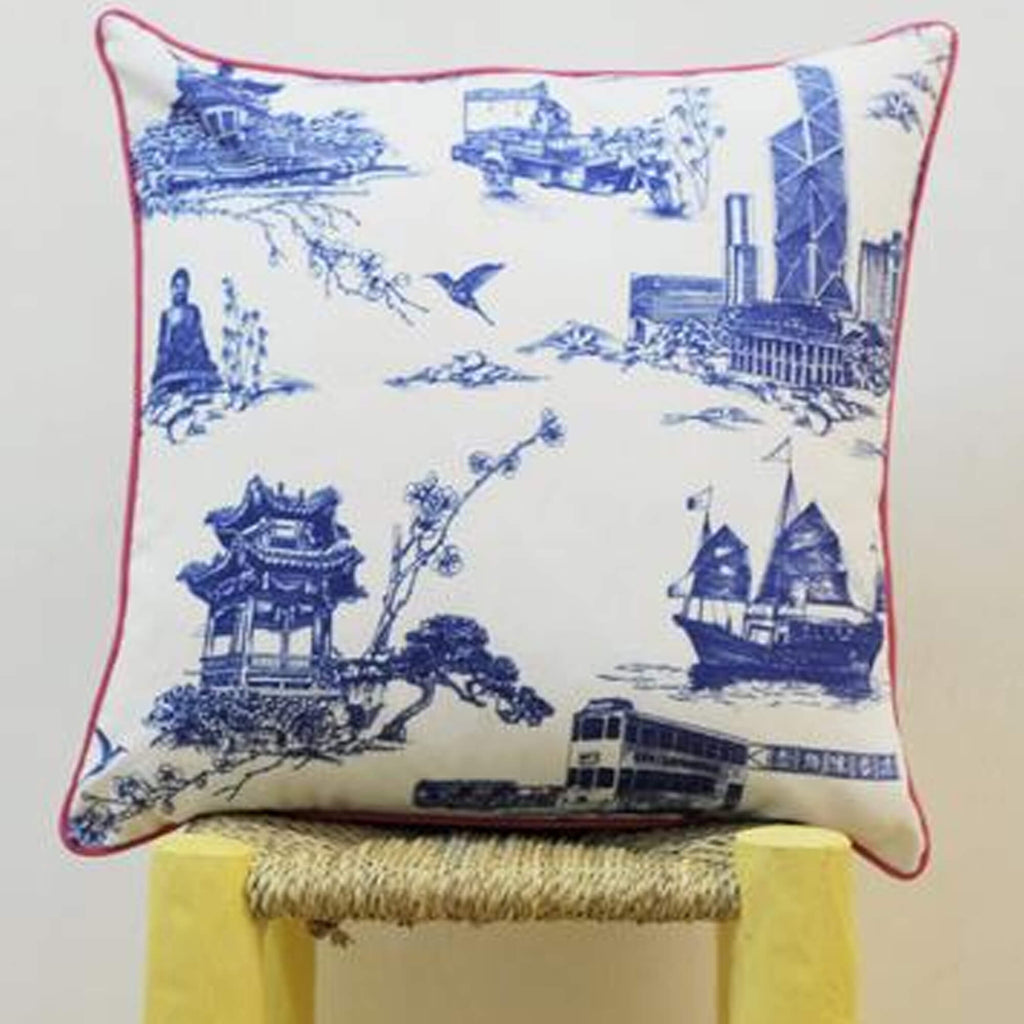 Works of Wonder | Cushion - Royal Blue