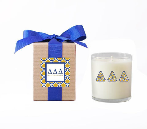 DDD - Delta Delta Delta - LuminousLetters™ Greek Candle