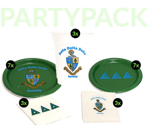 DDD - Delta Delta Delta - Party Pack (White Cups)