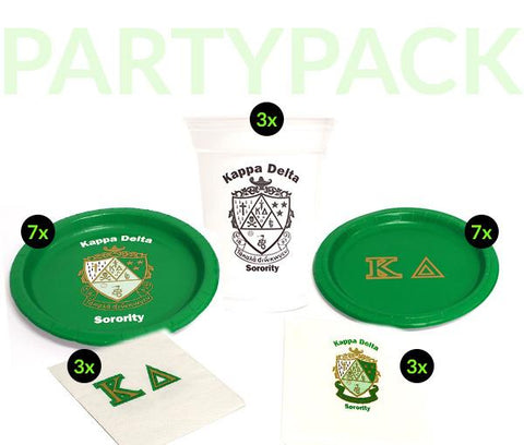 KD - Kappa Delta - Party Pack (White Cups)