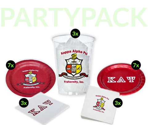 KAP - Kappa Alpha Psi - Party Pack (Clear Cups)