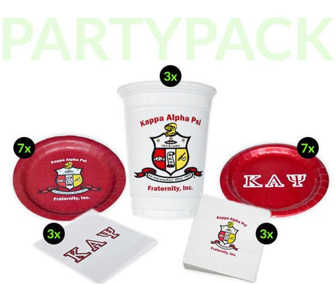 KAP - Kappa Alpha Psi - Party Pack (White Cups)