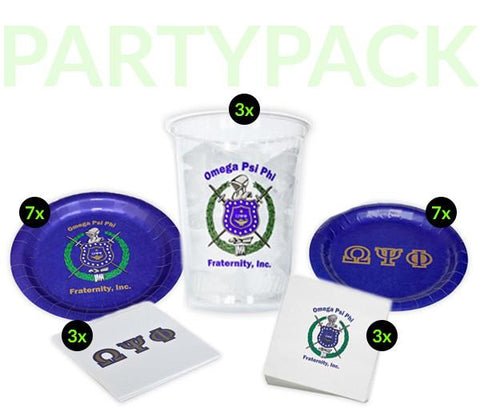 OPP - Omega Psi Phi - Party Pack (Clear Cups)