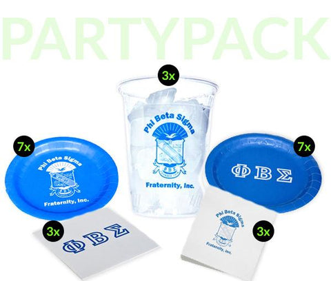 PBS - Phi Beta Sigma - Party Pack (Clear Cups)