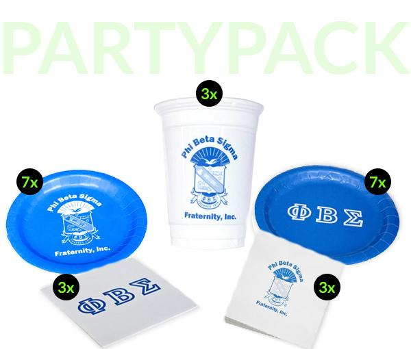 PBS - Phi Beta Sigma - Party Pack (White Cups)