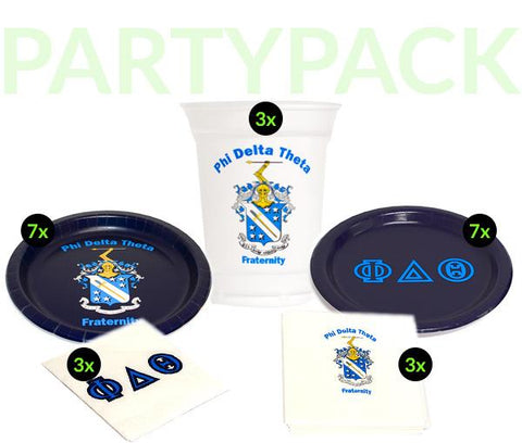 PDT - Phi Delta Theta - Party Pack (White Cups)