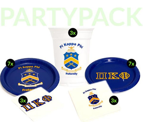 PKP - Pi Kappa Phi - Party Pack (White Cups)