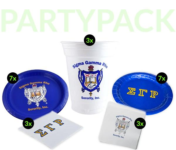 SGR - Sigma Gamma Rho - Party Pack (White Cups)
