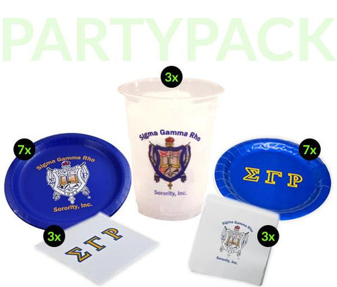 SGR - Sigma Gamma Rho - Party Pack (Clear Cups)