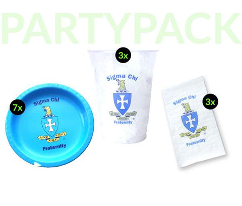 SC - Sigma Chi - Party Pack (Clear Cups)