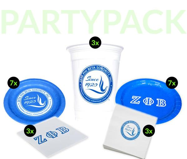 ZPB - Zeta Phi Beta - Party Pack (Clear Cups)