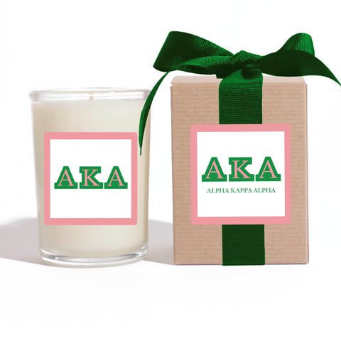 AKA - Alpha Kappa Alpha - LuminousLetters™ Greek Candle