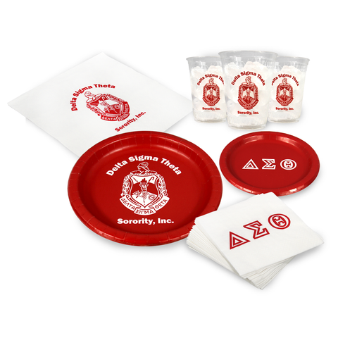 DST - Delta Sigma Theta - Party Pack (Clear Cups)