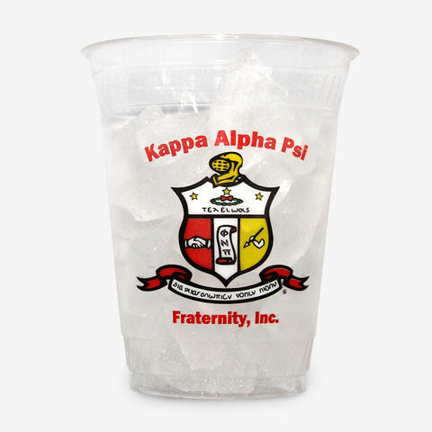 KAP - Kappa Alpha Psi - 16 oz Clear Plastic Cup (24ct)