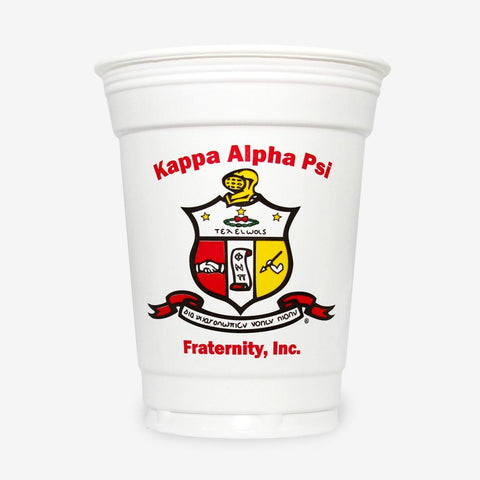 KAP - Kappa Alpha Psi - 16 oz White Plastic Cup (24ct)