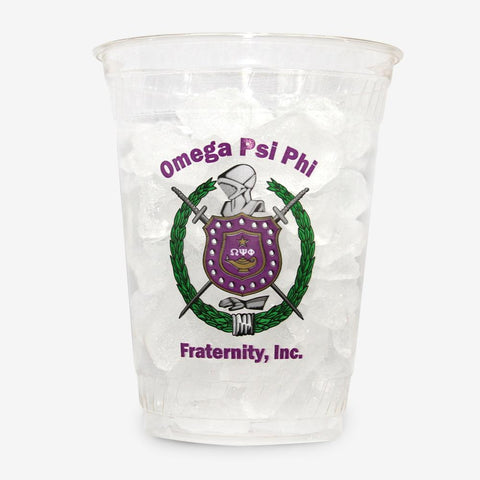 OPP - Omega Psi Phi - 16 oz Clear Plastic Cup (24ct)