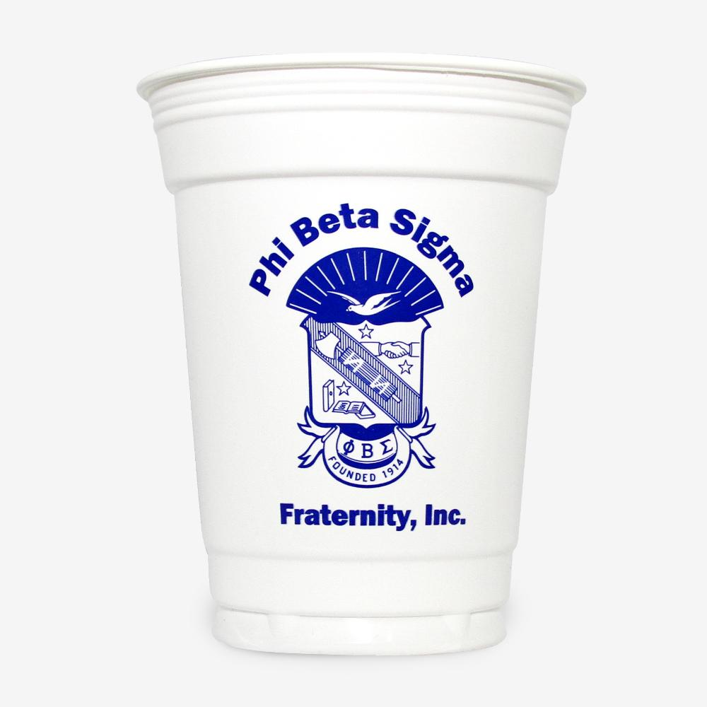 PBS - Phi Beta Sigma - 16 oz White Plastic Cup (24ct)