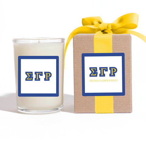 SGR - Sigma Gamma Rho - LuminousLetters ™ Greek Candle