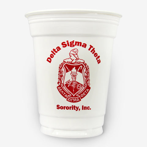 DST 16 oz White Plastic Cup (24ct)