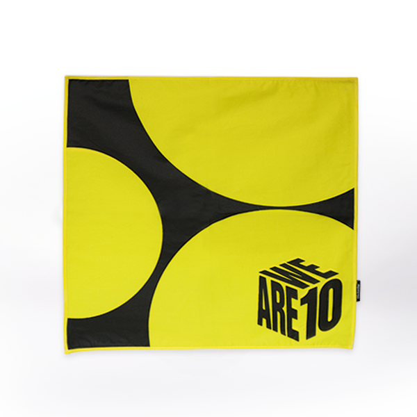 BANDANA LARGE YELLOW DOT