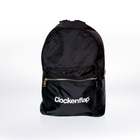 BLACK CLOCKENFLAP BACKPACK