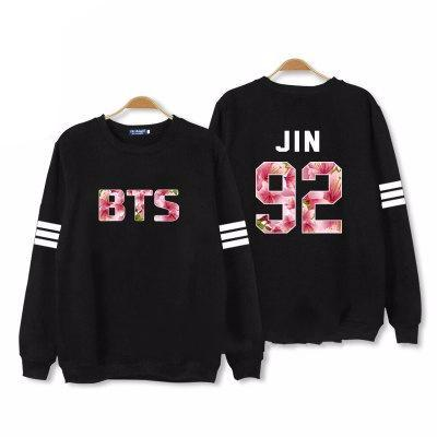 'BTS Floral Number' Long Sleeves, - Koreanbae