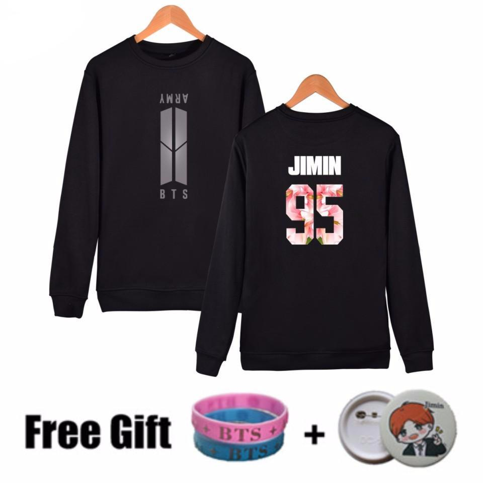 BTS Bangtan Boys Sweatshirt Women Hoodies K-POP Long Sleeve Women Hoodies Sweatshirts Brand Black Fashion Korean Sweatshirt 4XL,  - Koreanbae