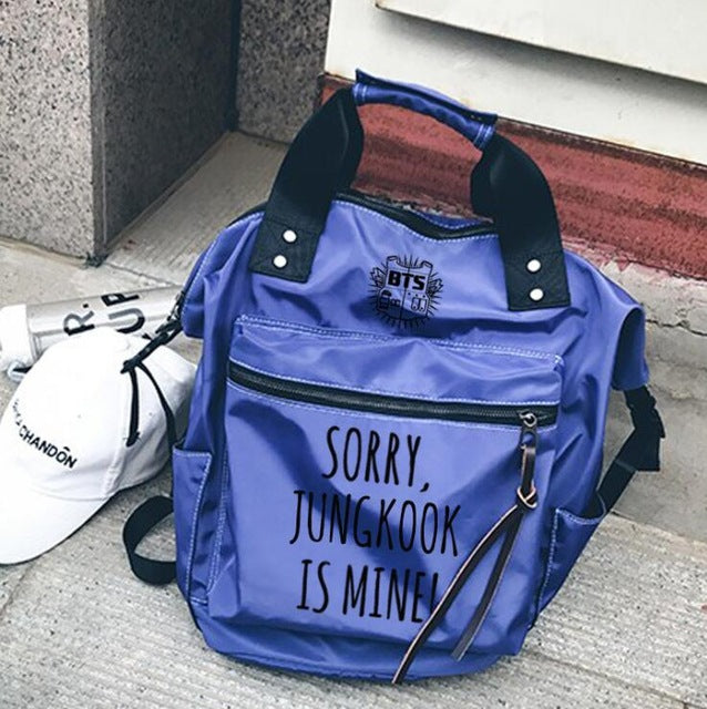'BTS is mine' Backpack, - Koreanbae
