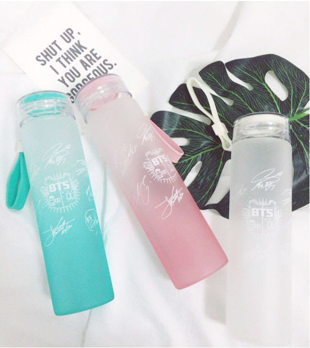'BTS Frosted Glass' Bottle, - Koreanbae