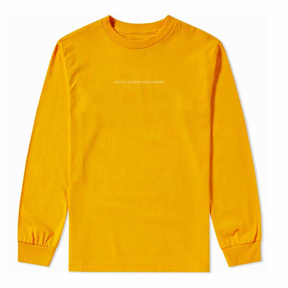 Faith Over Feeling Yellow Longsleeve
