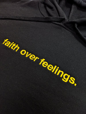 Faith Over Feelings NYE Cropped Hoodie
