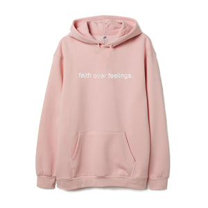 Faith Over Feelings Peach Hoodie