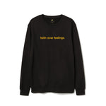Faith Over Feelings Black and Gold Crewneck