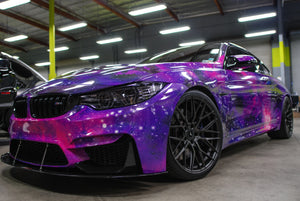 Psychedelic Galaxy BMW M4 Poster