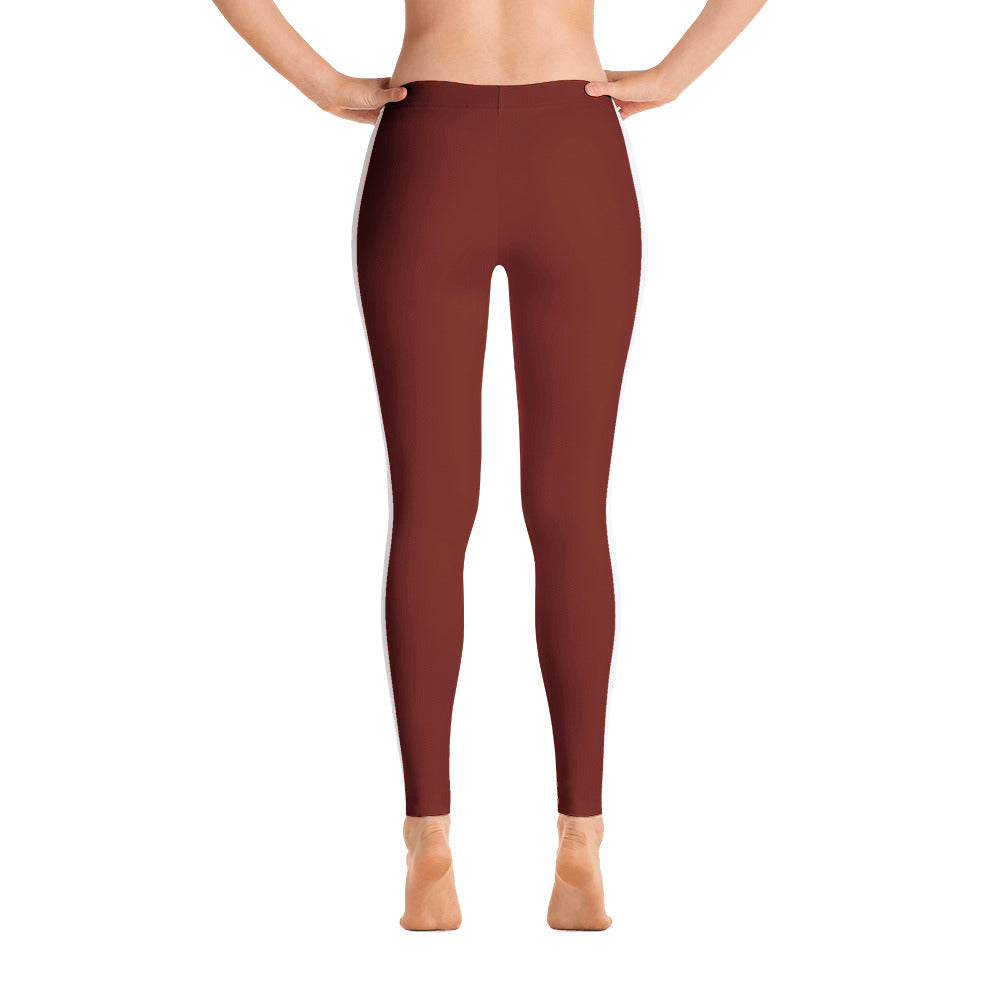4500d856db STARLETS Burgundy & White Athletic Tights – Starlets_StarsTrackClub