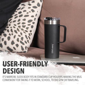 Life's Easy Stainless Steel mug with handle (20 oz)