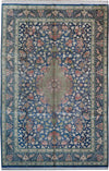 7 x 10 Persian Qum All Silk Rug | Signed by master weaver