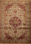 "4'4"" x 8'7"" Antique Persian Kashan Rug - Rugs.net"